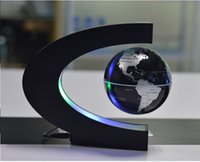 Floating Globe C Forma LED World Map Floating Globe Tellurion Levitazione magnetica Light World Map Decoration Regalo di compleanno per bambini