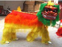 Wholesale Drop Mascot Costume - hight qulaity Lion Dance Mascot Costume Northern Style FRP Head Long Fur Event Ceremony Celebration Party Outfit Fancy Dress Drop Shipment
