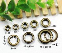 Wholesale Eyelet Bronze - Paint Bronze Tone Color metal eyelet round garment eyelet DIY accessories (24sets lot) 082008011
