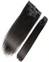 Wholesale Clip In Human Hair Extensions Full Head g g Clip In Brazilian Hair Extensions Remy Human Hair Clip in