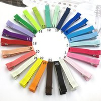 Wholesale Express Shipping Hair - Wholesale Single Prong Ribbon Lined Alligator Hair Clips lined clip lined clips free express shipping truelovewangwu 1953