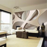 oturma odası minimalist duvar kağıdı toptan satış-Papel de parede 3d duvar kağıdı Avrupa minimalist yatak odası oturma odası TV zemin stripes soyut duvar duvar kağıdı