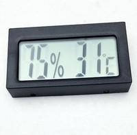 higrómetro de termómetro digital de interior al aire libre de lcd al por mayor-Alta calidad mini pantalla LCD digital interior exterior termómetro higrómetro instrumento de temperatura sensor de temperatura medidor probador de temperatura