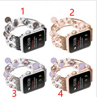 Wholesale christmas connector for sale - Group buy For Apple Smart watch band Agate bands strap replacement mm mm MM MM connector only bands christmas gift