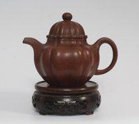 ingrosso teiere fatte a mano yixing-Cinese Yixing Zisha Viola Sabbia Handmade Zhu Ni Teiera Chen Mingyuan Mark 440cc