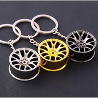 HOT Sell - Cool lega del metallo Keychain, catena chiave dell'automobile portachiavi creativo Mozzo ruota a catena per le donne regalo Man Auto Fancier