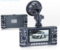 "Wholesale H 264 Car Black Box - Dual Lens 2.7"" HD 720P Car DVR IR Night Vision Black Box Vehicle Video Recorder PC Camera H.264 Free Shipping"