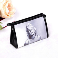 Wholesale Sext White - New 2016 Women Fashion Big Messenger Bags Women Leather Handbags Marilyn Monroe Printed Cosmetic Bags & Cases Sext Makeup Bag Printing Bag