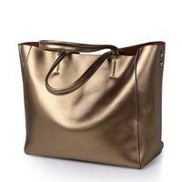 Wholesale Bronze Hobo Purse - High Quality Cowhide Handbags Genuine Leather Handbag Clutch Hobo Purse Shoulder Bags Women Lady Sling Bag Tote GLB038