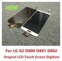 Wholesale Lg Optimus Screen - Tested LCD Screen Display With Touch Panel Digitizer For LG Optimus G2 D800 D801 D802 D803 D805 Full Assembly Replacement
