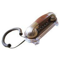 Wholesale Vintage Corded Phones - Mini Vintage Antique Wall Mounted Telephone retro wall landine phone