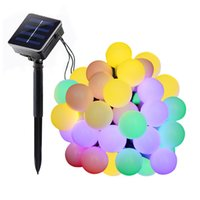 Wholesale Outdoor Wedding Supplies - 21ft led large bulb string light Solar outdoor patio lanterns decorated wedding celebration party supplies Christmas tree light strings