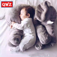 QWZ 60cm Large Peluche Elephant Toy Kids Sleeping Back Cuscino Morbido Elefante Bambola Baby Doll Regali di compleanno Festa farcita Bambola