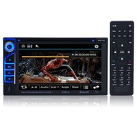 Novo 6,21 polegadas 6201A Double Din DVD Player de carro DIVX / DVD / VCD / CD / USB / Bluetooth Auto Multimedia Player 2 Din MP5 Audio Player Controle Remoto