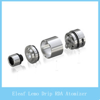 Wholesale Detachable Dripping - 2016 100% Original Eleaf Lemo Drip RDA Detachable Structure No Thread Connection Rebuildable Dripping Atomizer with Wide Open Build Space