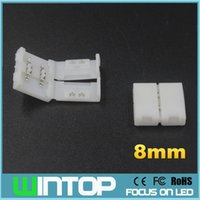 Connettori saldati 50pcs / lot 8mm 2Pin ha condotto la connettore di striscia per SMD3528 singola luce di striscia del LED di colore