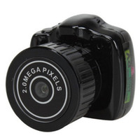 cámara pc portátil al por mayor-Y2000 Mini cámara más pequeña cámara de bolsillo Mini DV grabadora Micro DVR cámara de vídeo cámara web portátil con llavero 20 PC / LOT