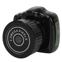 câmera pc portátil venda por atacado-Y2000 Mini Câmera Menor Câmera de Bolso Mini Gravador DV Micro Câmera de Vídeo DVR Portátil Webcam Com Chaveiro 20 PCS / LOT