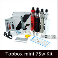 2016 Vape kit Topbox Mini Starter Kit clone Com Kbox Mini 75W TC Mod 4 ML Toptank Mini vs Subox Mini Starter Kit de cigarros eletrônicos