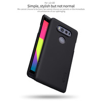 Wholesale Nillkin Case For Lg - NILLKIN cellphone cover for LG V20 Super Frosted Shield matte hard back cover with free screen protector