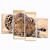 pinturas forestales pinturas al óleo al por mayor-Impresion Animal Oil Painting Beautiful Animal Canvas Print Art Home Decoración de Forest King Tiger Paintings