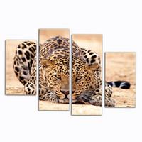 peintures peintures à l'huile de forêt achat en gros de-Impression de peinture à l'huile sur des animaux, magnifique animal sur toile Art Decor de décor de forêt King Tiger Paintings