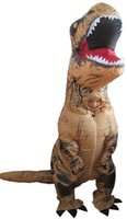 Wholesale Adult Dino Costume - fancy dress mascot giant inflatable T REX dinosaur suit for adult inflatable dino costume for halloween
