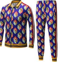 Wholesale Floral Print Pants Men - 2018 Autumn G Men TARCKSUITS Sport suit 3 d printing Fashion Flowers MEN HOODIES AND LONG PANTS SPORTWEAR FOR MALE AND WOMEN