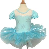 Wholesale Silk Tutu Ballet - Frozen Dance Dress ballet costumes for performance frozen ballet dress frozen princess cotton dress anna elsa tutu ballet leotards for kids