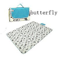 Wholesale Oxford Cloth and Waterproof Outdoor Picnic Mat Or Yoga Mat Butterfly paragraph Multiple Size and Multicolor