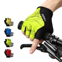 Wholesale Mountain Building - Mountain Bike Cycling Gloves Outdoor Sports Hiking Body Building Half Finger Gloves Skidproof Motorcyle Cycling Fitness Semi Finger Gloves