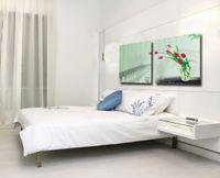tulpe blumen leinwand großhandel-Moderne feine abstrakte Malerei Tulip Flower Giclee Print auf Leinwand Wand Kunst Home Decor Set20192