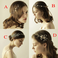 Wholesale Unique Hair Styling Accessories - Beautiful Unique Bridal Tiara Hair Accessories 2018 In Stock Rhinestones Pearls Different Styles bridal Headpieces for Wedding Headbands CPA