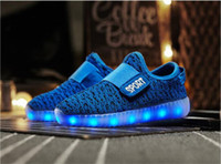 online Led Luminous Shoes - 2017 Fashion LED luminous shoes for kids Autumn and Winter Newest Sports shoes Xmas gift for Children