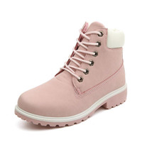 Wholesale Ladies Pink Suede Boots - PP FASHION Ladies Womens High Top Flat Casual Ankle Boots Comfort Lace Up Shoes Size Platform Wedges