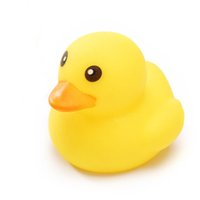 Wholesale Toy Yellow Soft Duck - 200pcs lot 5*6CM New Dog Cat Chew Sound Toy Soft Non-toxic Rubber Dog Small Yellow Duck Pet Bite Toy