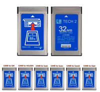 Wholesale tech cards - DHLHottest 32MB CARD FOR GM TECH2 for Opel  ForGM  SAAB ISUZU Suzuki Holden original gm tech2 32mb card ,32 MB Memory GM Tech 2 Cardi