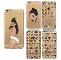 Wholesale expressions painting for sale - Phone Case for iphone X iPhone s plus s E Case Custom Design Soft TPU Protective Back Cover painting emoji Expression Case GSZ002