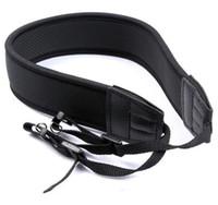 Wholesale Dslr Neoprene - Neoprene Camera Neck Strap For Nikon for Canon for Sony all SLR DSLR Black 50 Pcs