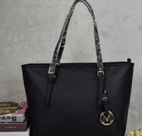 Wholesale Genuine Leather Designer Lady Tote - famous brand fashion women bags MICHAEL KALLY MKK lady PU leather handbags famous Designer brand bags purse shoulder tote Bag female 6821
