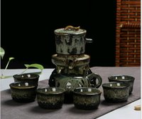 2017 Ancient Kung Fu Tee Set Yixing Teekanne Handgefertigte Tee Pot Cup Set 350ml Zisha Keramik Chinesische Tee Zeremonie Geschenk BONUS Luxus Geschenk