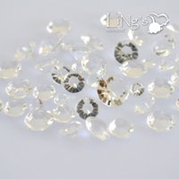 Wholesale Diamond Crystal Confetti For Wedding - 1000pcs set 4.5mm Acrylic Diamond Confetti Wedding Party Table Scatters Crystal wedding Decoration 22 Colors For choose DHL free shipping