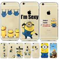 Wholesale Despicable Phone Case Iphone - Despicable Me Cute Minion Soft TPU Case Cover for iPhone SE 5 5s 6 6S 7 mobile phone Cases capinhas Butts Sexy Design