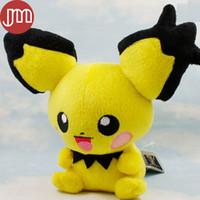 Wholesale Banpresto Figure - New Banpresto Pichu Pikachu Doll Spiky-eared Stuffed Animal Figure 19cm Anime Baby Dolls Kids Toys with Tag