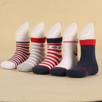 Wholesale Striped Color Matching - Socks striped baby girls & boys colorful unisex kids socks all match cute socks no pilling cotton socks, 5 color mixed