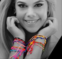 Wholesale Catholic Cross Charms - Catholic religious jewelry Christianity hnadmade bracelets for women Maria cross woven nylon rope bracelets free shipping