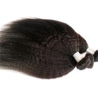 vietnamca saç toptan satış-Kinky Düz Moğol Saç Örgüleri Kamboçyalı Birmanya Vietnamca Saç 10-24 inç 1 bundle / lot Doğal Renk İşlenmemiş İnsan Saç Uzantıları