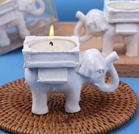 Suerte Elefante Candelabros Baratos-Lucky Elephant Candles Holder Tea Light Candles Holder Regalos de cumpleaños de la boda con candelita