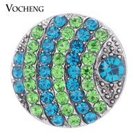 Clasps & Hooks bling jewelry beads - VOCHENG NOOSA Snap Interchangeable Jewelry Inlaid Crystal Round Bead mm Colors Bling Charms Vn