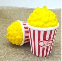 Wholesale Squeeze Cup - Popcorn Cup Squishy Slow Rising Decompression Easter Phone Strap Toy Kawaii Squishy Popcorn Scented Squeeze Phone Straps Pendant KKA2857